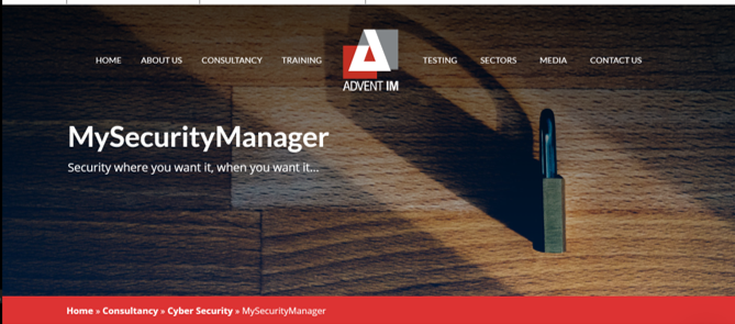 MySecurityManager delivered virtually or on the phone