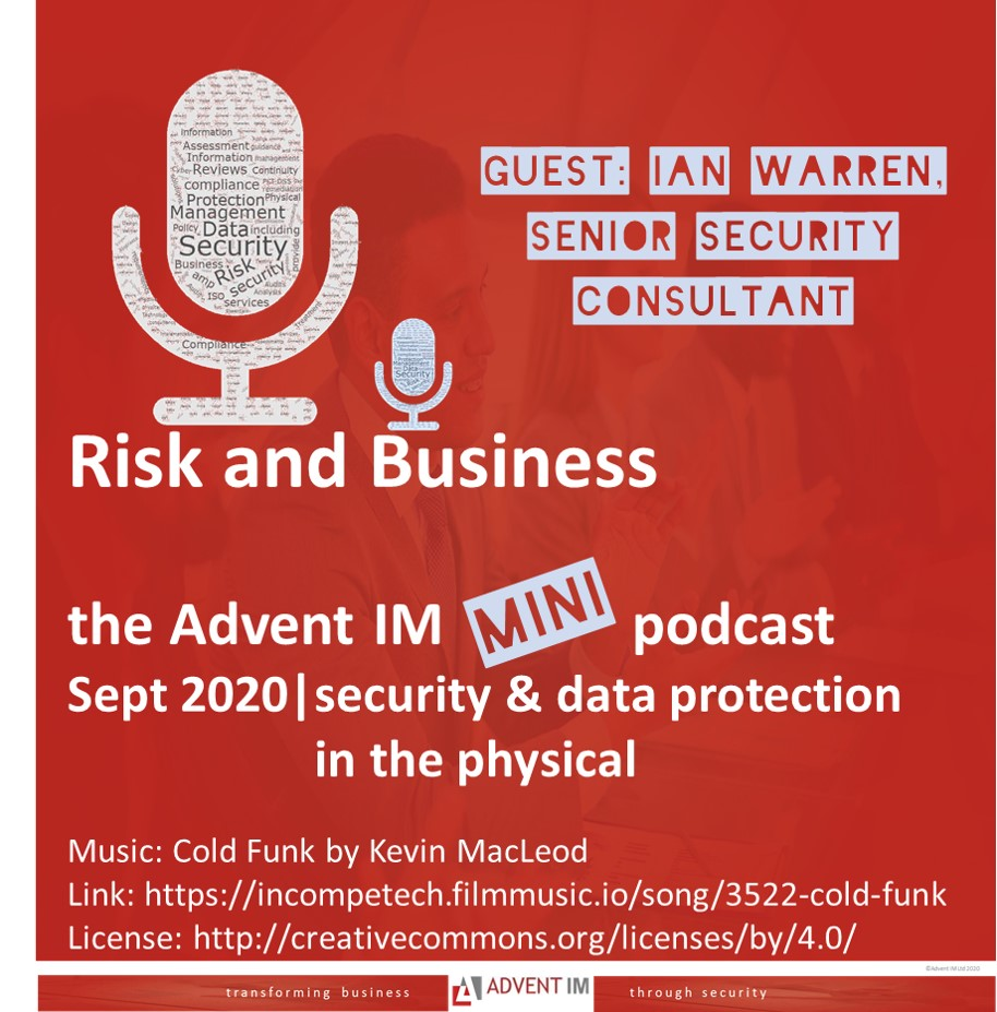 physical security and data prtoetion podcast from advent IM